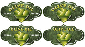 Collection of Olive Oil Labels Royalty Free Stock Photography