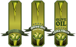 Collection of Olive Oil Labels Royalty Free Stock Images