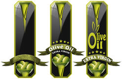 Collection of Olive Oil Labels Royalty Free Stock Photo
