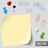 empty paper with office accessories royalty free illustration