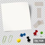 empty paper with office accessories vector illustration
