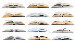 Collection open books Stock Photo