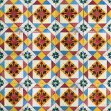 Collection of orange and blue patterns tiles Royalty Free Stock Photography