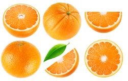 Collection orange d'isolement Images stock
