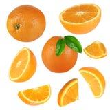Collection orange fraîche photographie stock