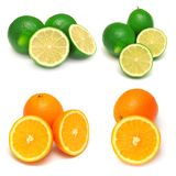 Collection of orange and lime Stock Photo