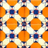 Collection of orange patterns tiles Royalty Free Stock Images