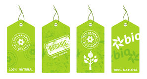Collection of organic labels Royalty Free Stock Images