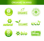 Collection of organic marks. And labels Stock Images