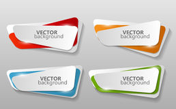 Collection of Origami Banners Template Vector Stock Image