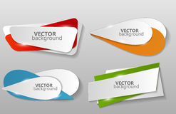 Collection of Origami Banners Template Vector Stock Photography
