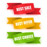 Collection origami sale banners Stock Photo