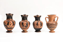 Collection of original Greek vase from archaeological royalty free stock photography