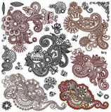 Collection of original hand draw line art ornate Stock Photo