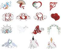 collection of ornament wedding Royalty Free Stock Photo