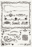 Collection of Ornamental Borders And Elements. In Ancient Design styles Stock Images