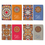 Collection of ornamental floral business cards, Royalty Free Stock Photography
