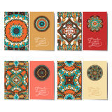 Collection of ornamental floral business cards, Stock Photo