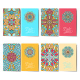Collection of ornamental floral business cards, Stock Photography