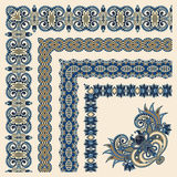Collection of ornamental floral vintage frame Stock Photo