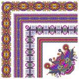 Collection of ornamental floral vintage frame Stock Image
