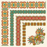 Collection of ornamental floral vintage frame Stock Images