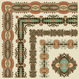 Collection of ornamental floral vintage frame Royalty Free Stock Image