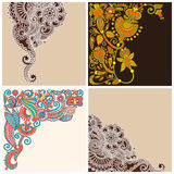 Collection of ornate card announcement Stock Images