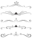 Collection of ornate decoration dividers Royalty Free Stock Photography