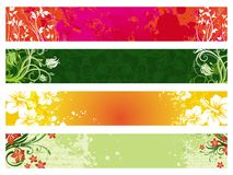 Collection of ornate floral banners Royalty Free Stock Photos