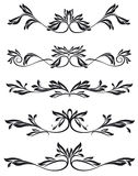 Collection of ornate graphical elements Royalty Free Stock Image