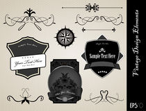 Collection of ornate labels Royalty Free Stock Image
