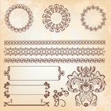 Collection of ornate page decor elements Stock Image