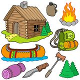 Collection of outdoor objects Royalty Free Stock Photos