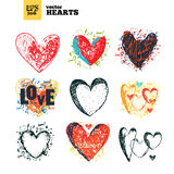 Collection pack of hearts royalty free illustration