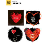 Collection pack of hearts stock illustration