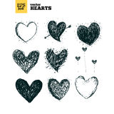 Collection pack of hearts vector illustration