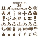 Collection of packing simbols Royalty Free Stock Photography