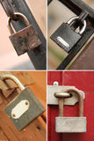 Collection of padlocks Royalty Free Stock Photos