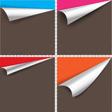 Collection of pages curl corner. Collection of pages curl corner vector Stock Images