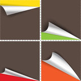 Collection of pages curl corner. Collection of pages curl corner vector isolated Royalty Free Stock Images