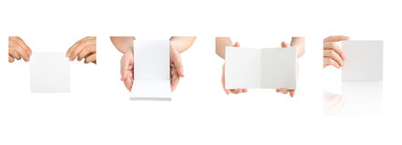 Collection of pages in the hands Royalty Free Stock Photo
