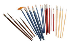 Collection of paint brushes Royalty Free Stock Images