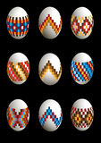 Collection of painted patterned Easter eggs Royalty Free Stock Image
