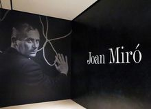 Joan Miro At The MOMA. A collection of 60 paintings of The  Spanish Painters sculpture and ceramicist ,Joan Miro is exhibited at the Museum Of Modern Art in stock image