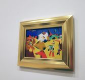 Joan Miro At The MOMA. A collection of 60 paintings of The  Spanish Painters sculpture and ceramicist ,Joan Miro is exhibited at the Museum Of Modern Art in royalty free stock images