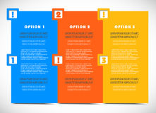 Collection panels with options Royalty Free Stock Images