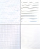 Collection of paper backgrounds Stock Photo