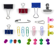 Collection of paper clip Stock Photography