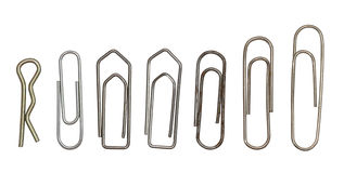 Collection of paper clips Stock Images